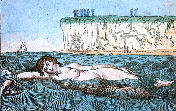 A woman swimming in the sea