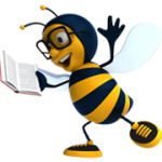 Happy Book Bee