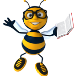 Happy Book Bees