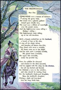 Worksheets Highwayman Poem the highwayman a struggle between romance and reality
