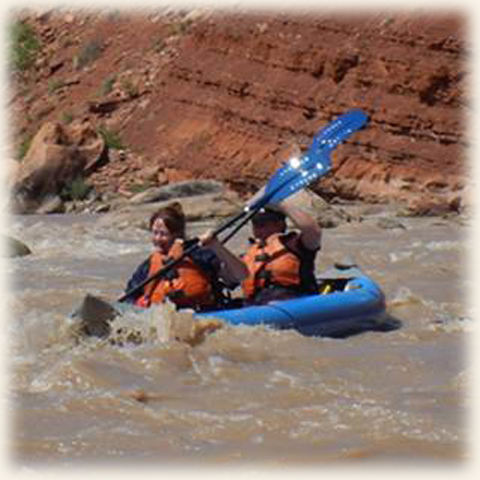 Me navigating the Colorado with my super patient amazing husband