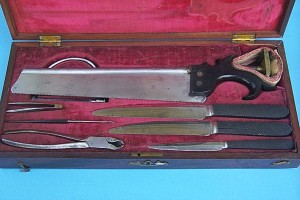 Bone saw British surgical kit