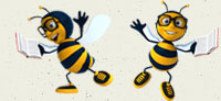two-book-bees